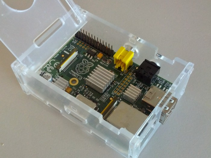raspberry pi and case