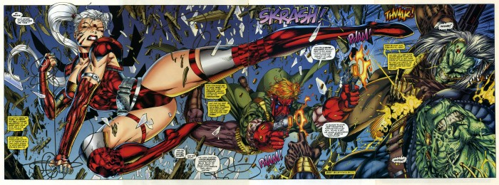 wildC.A.T.S. double splashpage